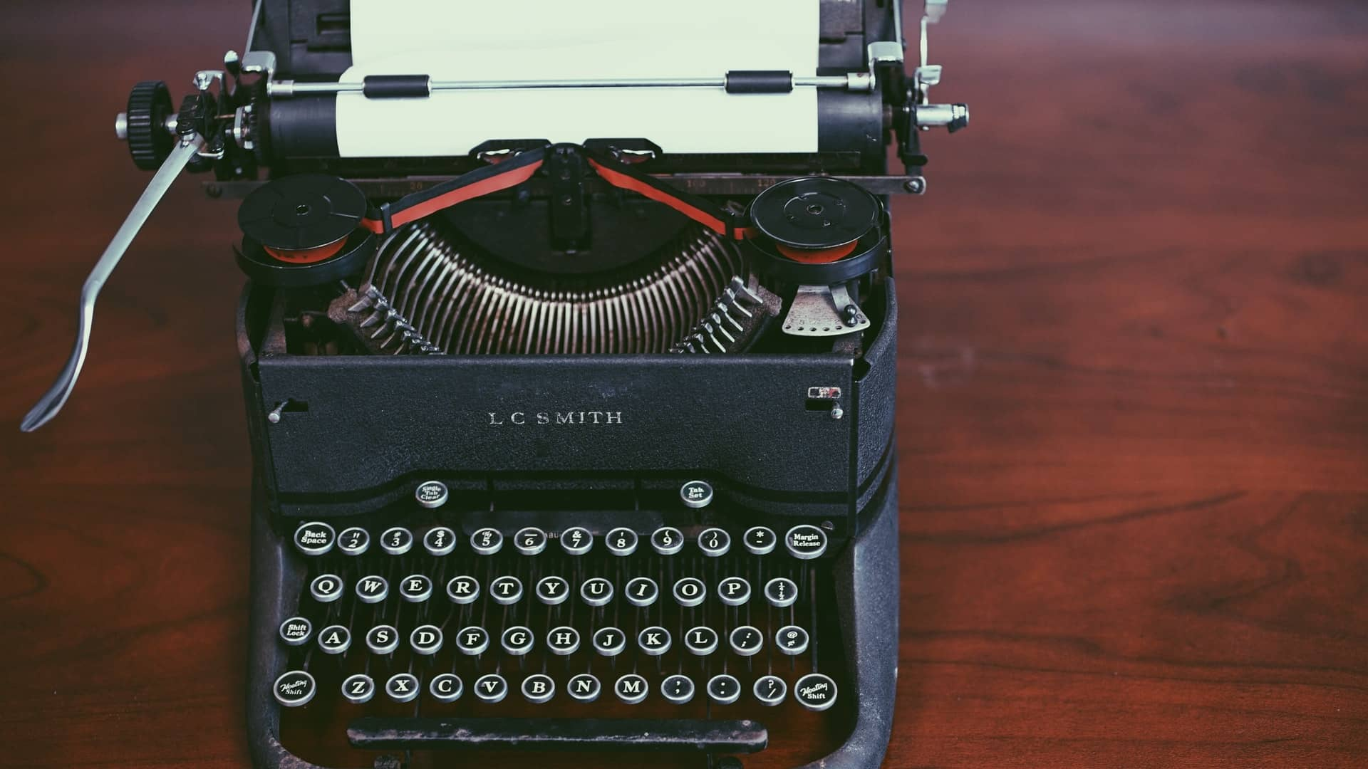 writer's block typewriter
